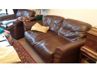 Two-Seater Leather Sofa and Arm-Chair