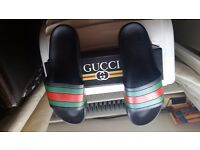 GUCCI SLIPPERS BLACK - UK-8 /US-9 /EU-42 & UK-10 / US-11/ EU-44