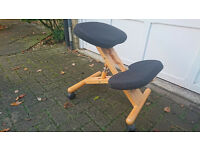 Ergonomic study stool