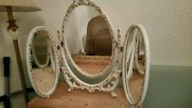 PENDING COLLECTION Oval mirror, dressing, shabby, old, vintage, retro