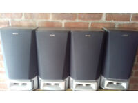 SET OF 4 VERY LARGE AIWA HI-FI SPEAKERS GREAT SOUND ALSO CAN BE BOUGHT AS A PAIR