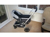 Pram with carseat adaptable