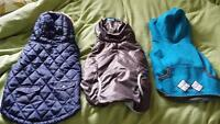 3 Fall / Winter med - large size dog jackets