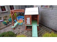 Kids swing slide playhouse