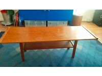 Vintage Danish Mid-Century Modern wood coffee table