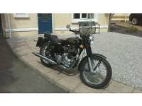 Royal Enfield. Totally immaculate. 2002. 500cc ES. Black...