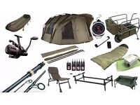 every thing you need for carp fishing with a friend or partner
