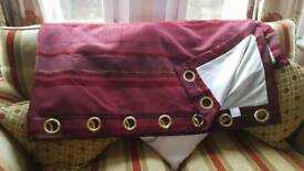 lined curtains 90x 90 and 46 x 90