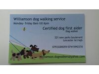 Williamson dog walking services