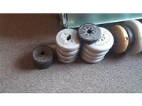 2 Dumbbells sets and free weights Collection only