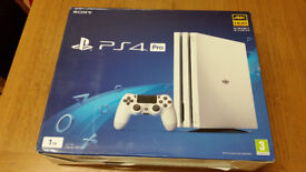 ps4 pro 1tb white brand new unopend in box unwanted gift.