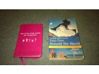 the rough guide first time around the world and a cocktail book