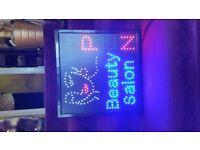 BEAUTY FLASHING LED SIGN
