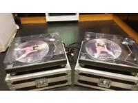 Technics sl1210mk2 ortofon and cases. Free shipping.