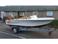 CLASSIC BROOM PLEASURE/Fishing/Speed BOAT with trailer.
