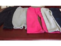 6 tracksuit bottoms & 1 pair jeans for girls. Age 7-8, 8-9, 9-10.