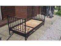 IKEA Single Metal Bed - Black