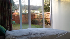Double Room to rent looking out onto garden. Lovely relaxed house with two young professionals