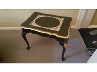 Black coffee table - exotic shabby chic with appliqué