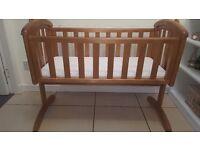 MAMAS & PAPAS Swinging Crib Solid Wood