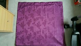 Curtains - 2 pair of Purple embossed fully lined