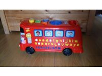 Alphabet musical toy bus - great for Christmas