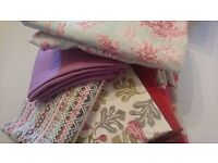 Fabric Remnants Bundle - Pinks & Reds. Including Romo & Villa Nova
