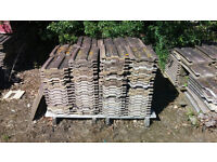 Used Redland 49 brown granulated roof tiles