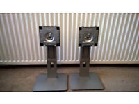 Pair of Adjustable Monitor Stands - Fits Dell P1914SF UZ2315HF P2214HB P2414HB & P2414H Monitors
