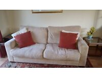 Three piece suite - Sofa and arm chairs