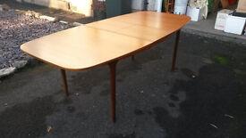 Retro 70s Mackintosh Teak Extendable Dining Table