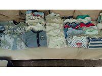 Bundle of boys clothes 0-3 months[60 items]