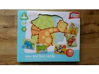 Kids ELC Sew & Lace Cards as new