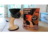 Vintage Salter Mincer, Boxed, Kitchen Equipment, Display / Collectable