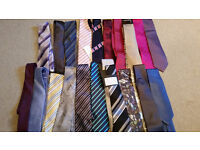 Collection of 48 new silk ties