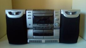 SUPER MATSUI RADIO / CD'S SECTION / TWIN TAPE SYSTEM,+ 2 X SPEAKERS-(EX)
