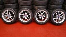 Saab Vauxhall Genuine 17 alloy wheels + 4 x tyres 225 45 17