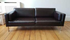2 x 3 seater leather sofa
