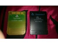 Official PS1 & PS2 Memory Cards - PlayStation