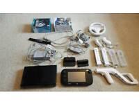 Nintendo Wii U Premium 32gbs Black With 10 Games