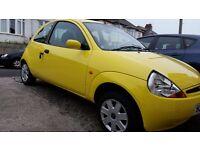 Bright yellow 1.3 ford ka style 2008 model