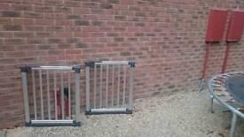 2 x Babydan Aluminium Safety Gates