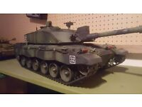 Radio controlled 1/16 scale rc tank Abrams 2.4ghz and also a Challenger 2 2.4ghz remote control.