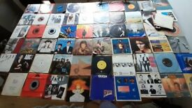 Job Lot of 60 7 inch singles - 70s/80s - good condition