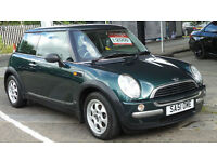 2001 51 MINI ONE SALT 1.6 GREEN GENUINE LOW 56K MILES MOT 08/17(CHEAPER PART EX WELCOME)
