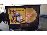 Jimi hendrix 224ct gold plated disc