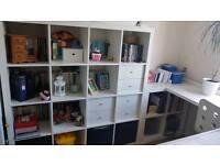 Kallax units and desk combination