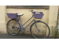 LADIES RALEIGH TOWN BIKE WITH BASKETS £60