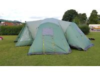Used twice Royal Montpellier Large 12 man tent in excellent condition with 4 sleeping pods.