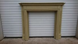 Wooden painted fire surround